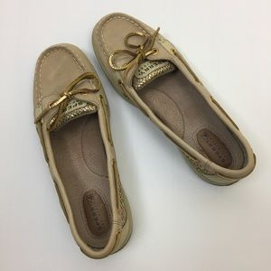 Sperry Top-Sider Tan/Gold Boat Shoes